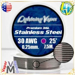 Carrete SS316L - 30AWG -...