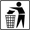 tira a la basura